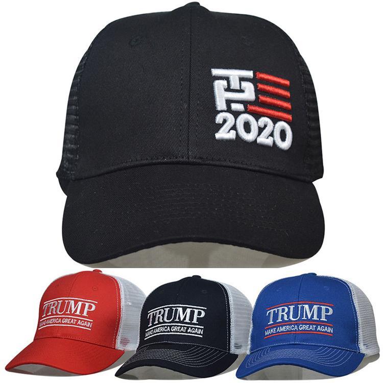 4 Estilo 2020 Trump Boné Beisebol Faça América Grande Carta De Bordado Ajustável Malha Esportes Caps Presidente Caminhão Eleitor Chapéu DHF59