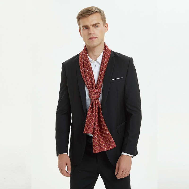 Warm Navy Double-Sided Maschio Geometric Feeling Sciarpe in poliestere Uomini alti 170 * 30cm blu sciarpa cravatta lunga qualità 100% seta onGNG