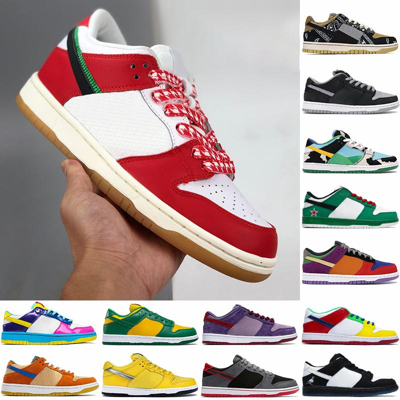 Yeni En Iyi Erkekler Basketbol Ayakkabıları Habibi Sean Tıknaz Dunky Gölge Travis Scotts Kentucky Çok Renkli Düşük Erkek Kadın Sneakers Eğitmenler