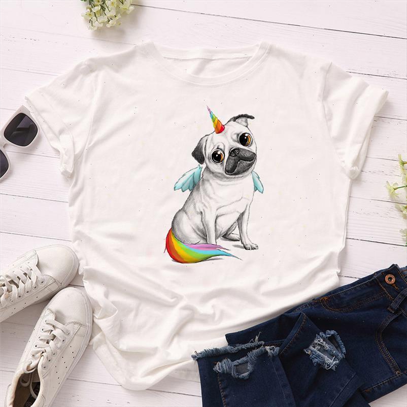 Summer Women Short Sleeve T Shirts Kawaii Dog Print Harajuku Girls Tshirts Ladies Graphic T shirts For Women Clothes