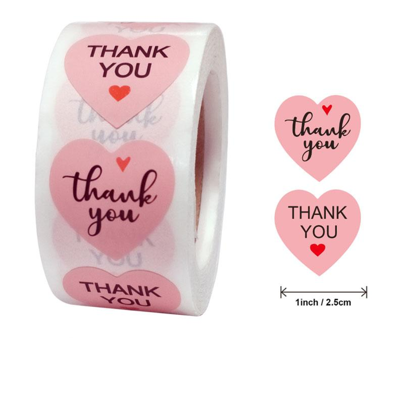 Different Styles 500pcs 2.5cm Thank you For Your Order Stickers Festival Party Gift Decorations Label