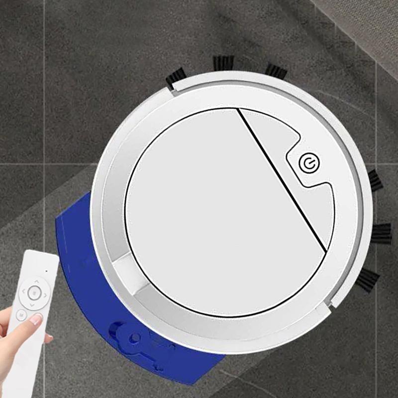 2800PA Ультратонкий робот Вакуумный пылесос с вакуумным вакуумом для резервуара для воды Пульт дистанционного управления мокрым и сухой подметанием