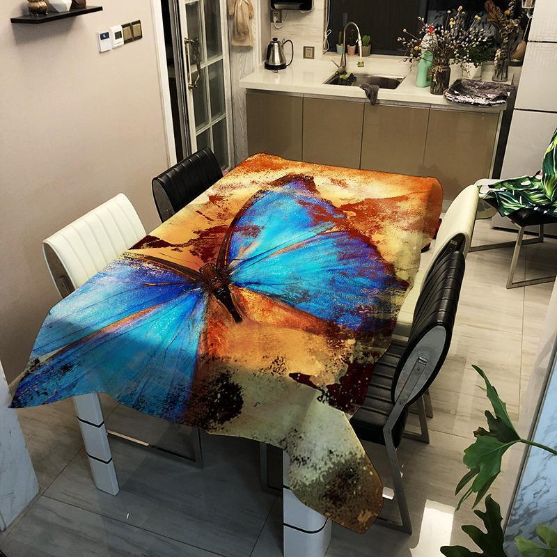 Nordic Home Table Décorative Tableau Dustoutes Nappe Nappe Papillon Motif Enfants Couverture de table