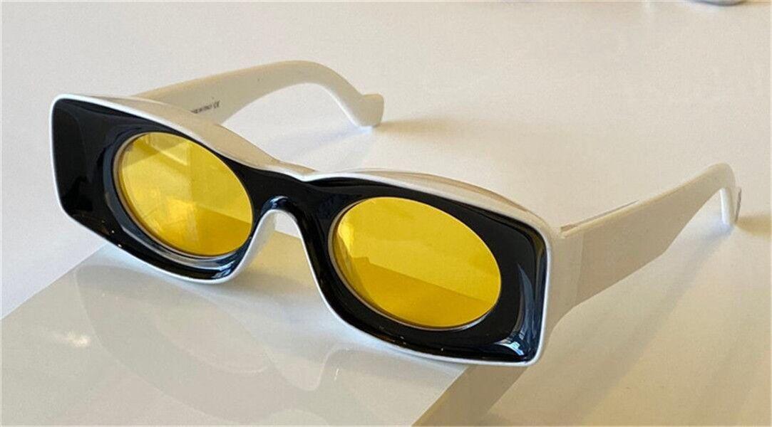 Yeni Moda Güneş Gözlüğü 400331 Özel Tasarım Renk Kare Çerçeve Yuvarlak Lens Avant-Garde Stil Çılgın İlginç Tasarım