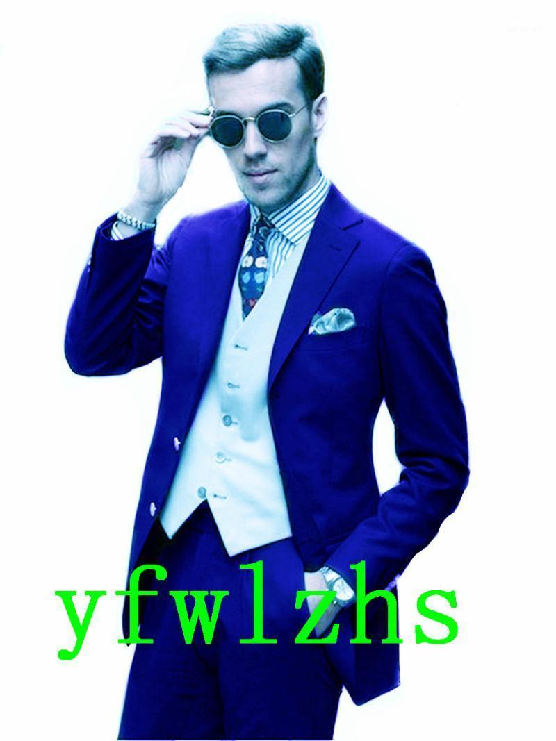 Beau ToilettesMen Notch revers Groom Tuxedos Robe de mariée Hommes Conversez Blazer Prom Dîner (Veste + Pantalon + Cravate + Vest) A6831