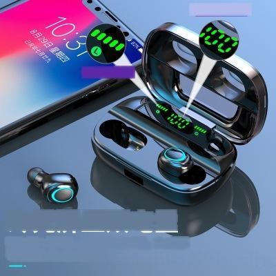 VYAH HIFI Bilezik TWS HM50 Bluetooth 5.0 Kulaklık Taşınabilir Bileklik Akıllı Kablosuz Stereo Kulaklık 2 in 1 1 adet İzle Spor