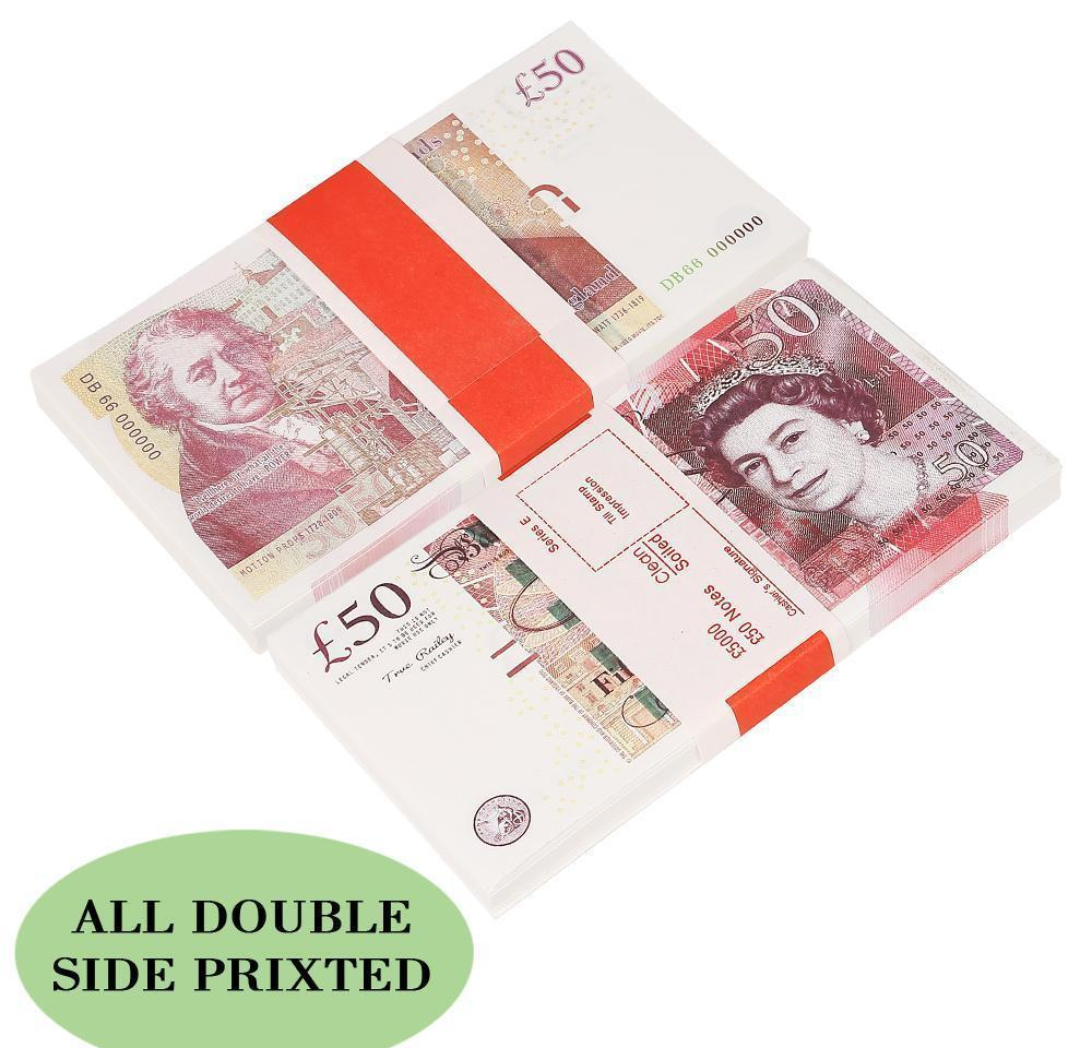 UK Pound banknote Fake money paper gifts Play paper toys printed money toys at outdoor party 100pcs/pack