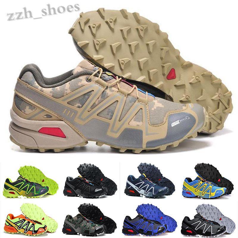 Salomon Speed Cross 3 4 2020 Yeni Hız erkek en kaliteli Siyah Beyaz nefes Atletizm Ayakkabı spor Sneakers boyutu 40-46 PR03 koşu ayakkabıları açık 3 CS çapraz