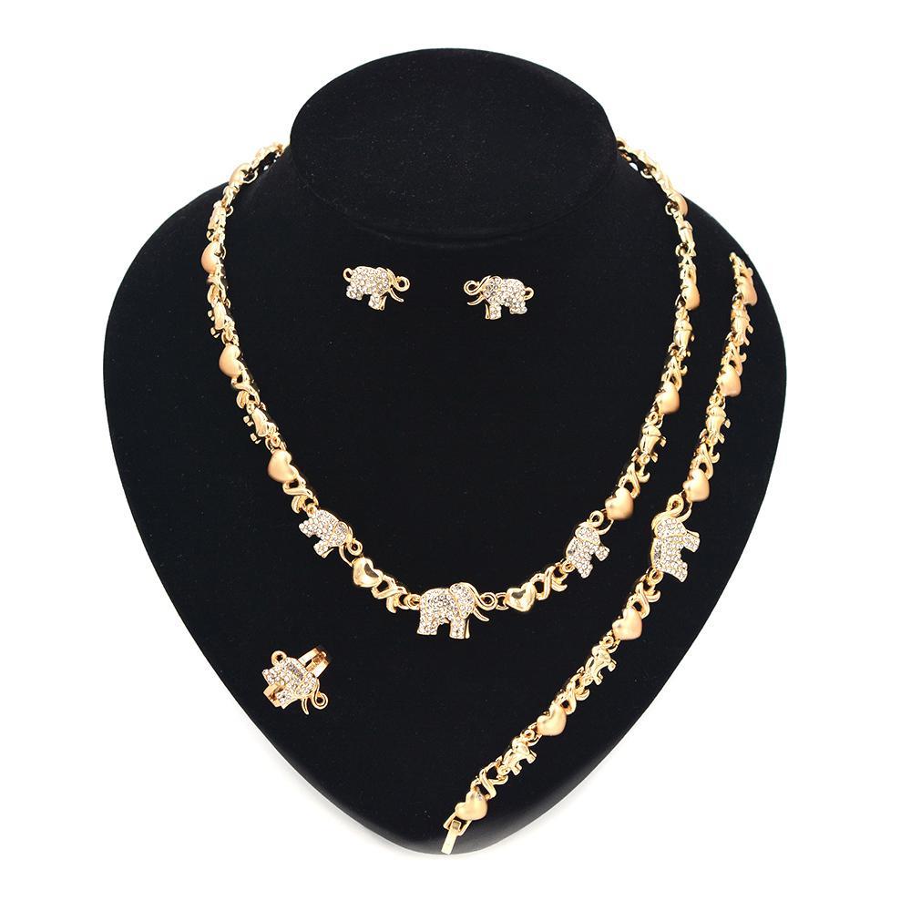 Set di gioielli xoxo 14K placcato oro matrimonio ciondolo ciondolo collane per le donne orecchini visualizzazione regalo di Natale regali Z1201