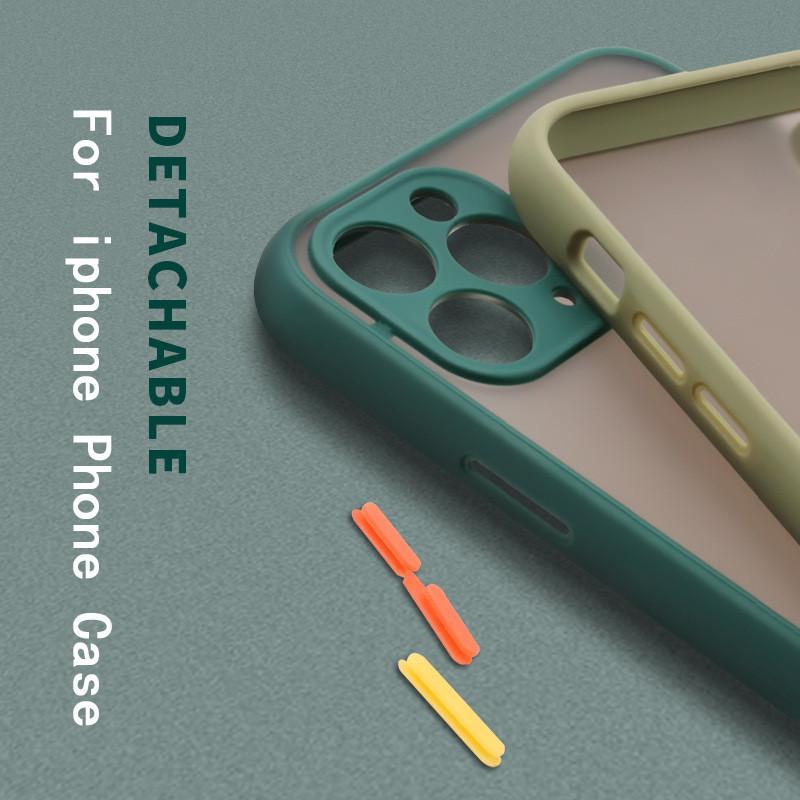 Para iPhone 12 Mini Matte Telefone Caso Transparente Pele Sinta-se Voltar Capa Cobertura Protetora Para Apple 12 Pro Max 11 XR XS MAX