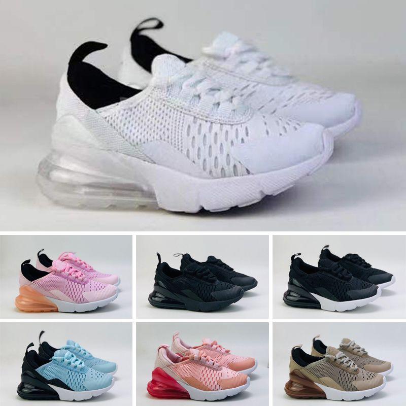 270 27C Scarpe per bambini caldi bambini 27s scarpe da esterno lupo grigio Grigio Bambino Street Sneakers per Boy Girl Byddler Chaussures Versura infantile