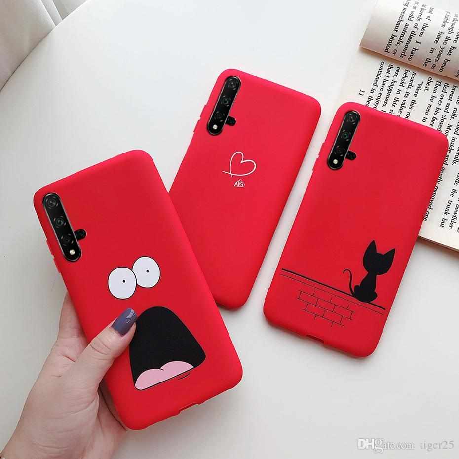 Coração bonito amor para Huawei Honra 20 Caso Silicone Macio TPU Phone Case Fundas para Huawei Nova 5T 5 T Honor 20 Honor20 Casos Capa