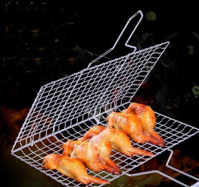 Malla de barbacoa Camping Grill Rack BBQ Clip Folder Folder Grill Carpeta Cesta Cesta Herramienta Peces de carne Vegetal BBQ TOO WMTZMM MYWJQQ