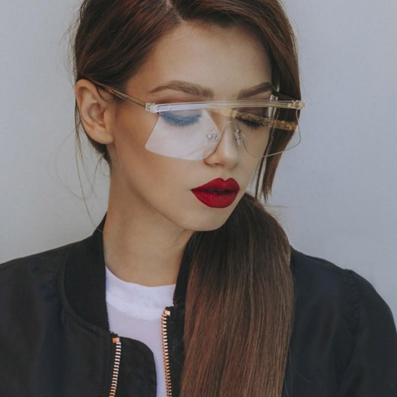 2020 Newest Steampunk Square Gafas de sol Plaza Mujeres Grandes Gafas de sol Negro Mujer Mirror Sombras Ladies UV400 Eyewear