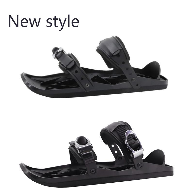 Nouveaux Mini Patins de ski pour neige Le court Skiboard Snowblades de haute qualité Reliures ajustables Chaussures de ski portable Chaussures de neige
