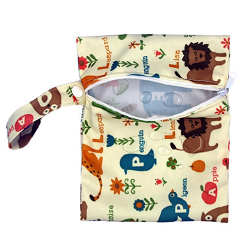 25 Stili Singolo Layer Baby Diaper Borse Borse da pannolino per pannolino portatile Borsa da stoccaggio Singola Zipper Animale Stampa Pannolini Pannolini da pannolini Bag per passeggino Borse da passeggio 16 * 20 c4379