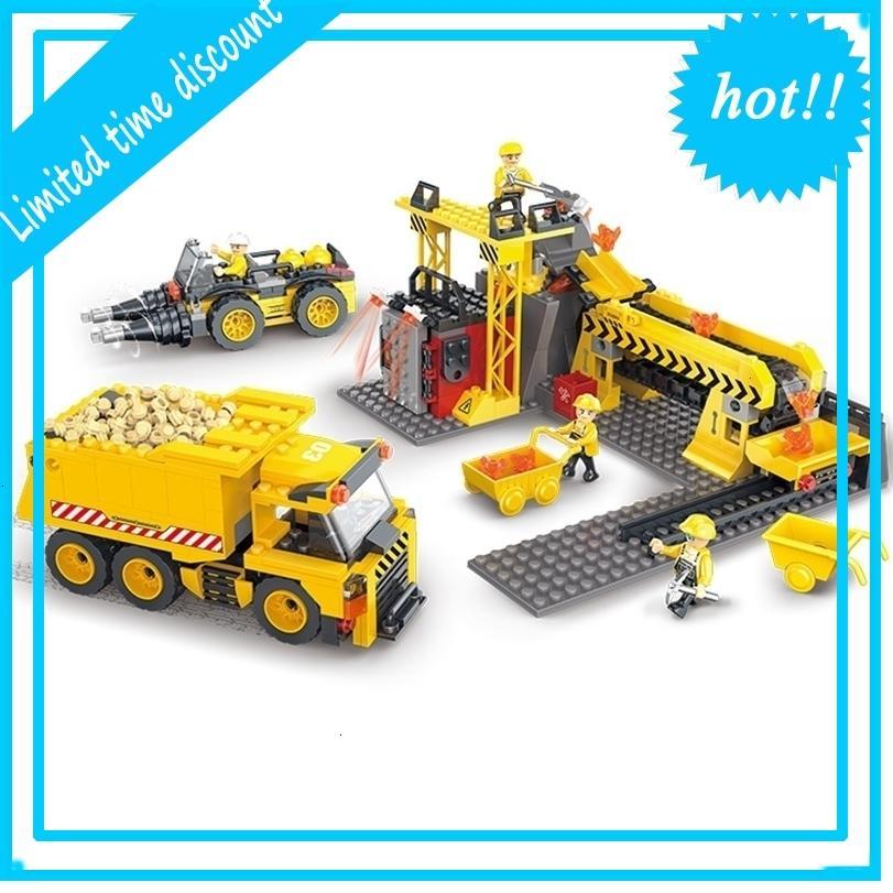 COGO 3D инжиниринг грузовик 604 шт. Строительство строительные блоки детей играть кирпичи игрушки