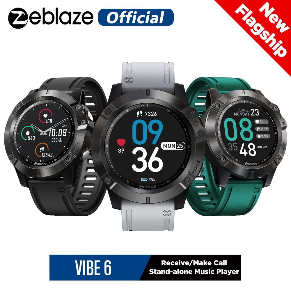 Yeni ZEBLESE VIBE 6 Akıllı İzle Müzik Çalar Ara Al / Yapma Kalp Hızı 25 Gün Pil Ömrü Smartwatch 2020 Spor İzle