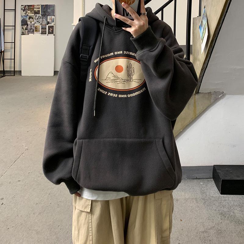 Suéter con capucha con capucha con capucha Top de peluche de la moda coreana Abrigo de invierno otoño suelto y versátil Marca