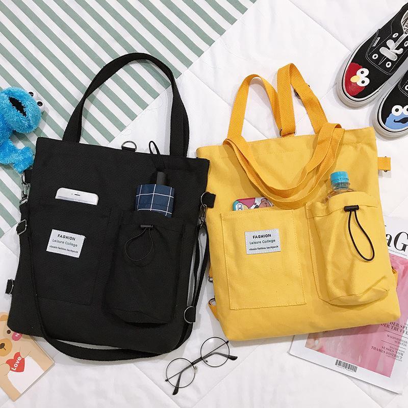 Роскошь Harajuku мода мода сумка сумка студент дизайнер стиль холст сумка женская 2020 сумочка все матч женские сумки dcuev