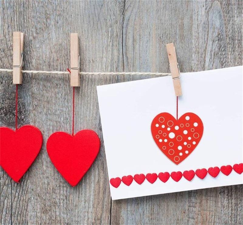 Valentine Day Seal Aufkleber Hochzeitsfeier liefert 8 Muster Geschenk verzieren 1 Zoll rot Liebe herzförmige Klebstoffkennzeichnung Heißer Verkauf 4YH J2