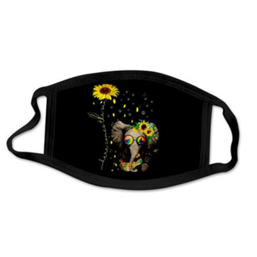 Moda de girasol máscaras de cara 11 estilos lavable reutilizable boca máscara transpirable anti-polvo máscara máscara cyz