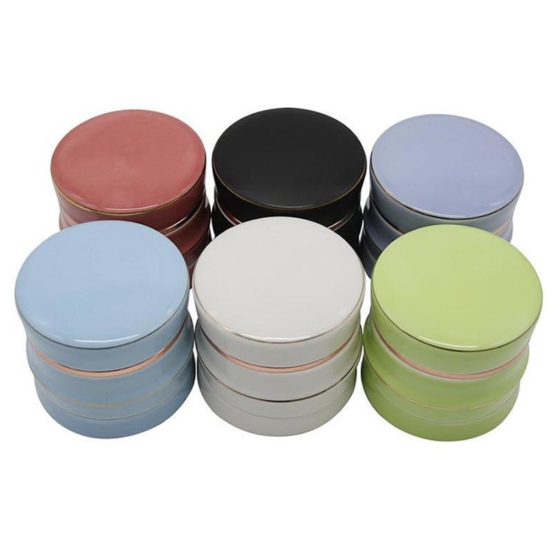 Keramikbeutel Krautschleifer Umweltschutz 63mm-4 Schicht waschbar Rauchbrecher Außenhandel Raucherschleifer DHL frei