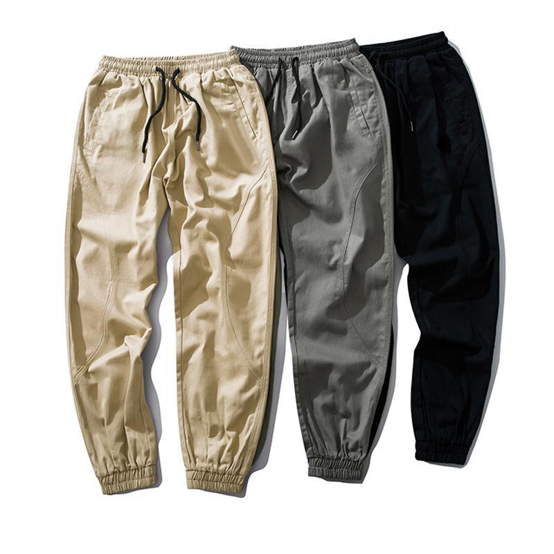 Mens corredores rastrear calças bordados sportswear cordão casual tracksuit calça calças