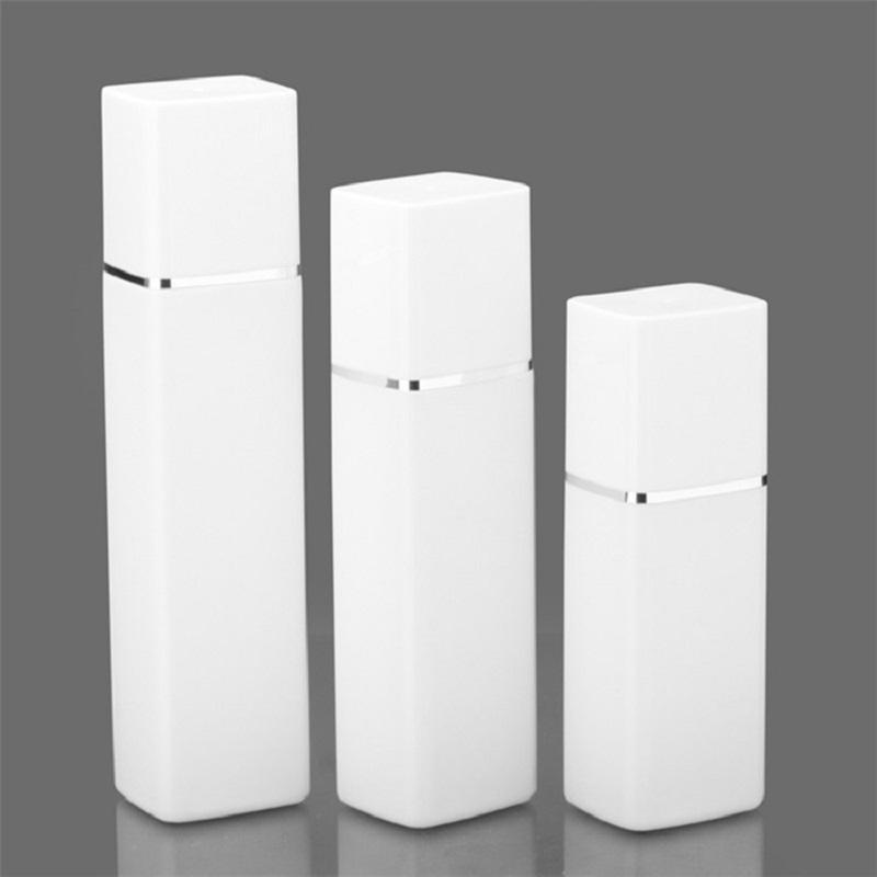 300 ml 400ml 500 ml Pompe HDPE carré blanc essence essence lotion bouteille de lotion push Type plastique cosmétique main désinfectant emballage emballage bouteilles