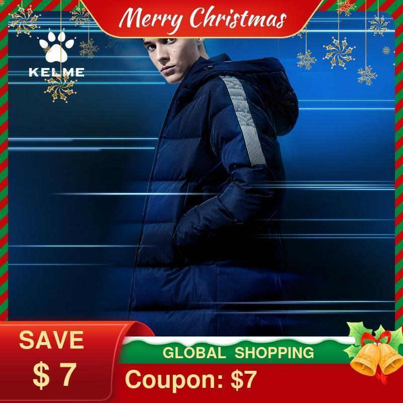 KELME Winter et Men Women Long Hooded Sports Casual Wear Padded Warm Coat 3991553