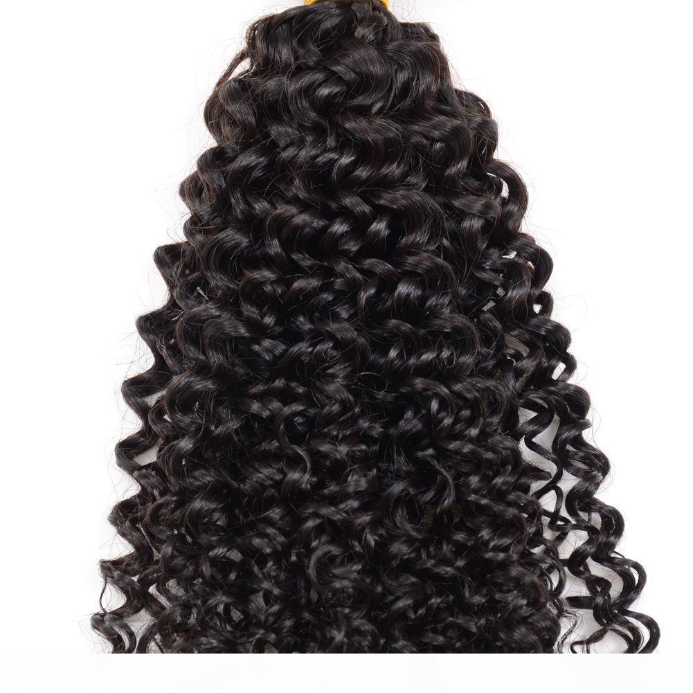 Elibess 3Bundles Kinky cheveux bouclés Weave 100% humain Cheveux Vierge brésilienne trame cheveux