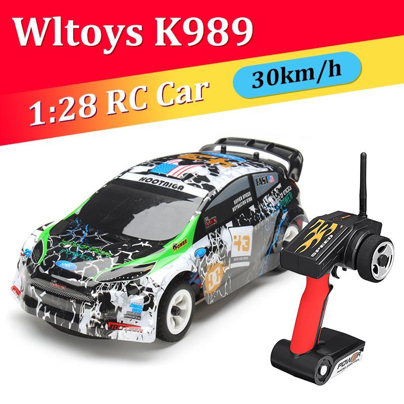 Wltoys k989 1:28 2.4g 4WD RC Aleación de automóviles Cepillado Racing Racing Crawler RTR RTR Driving Toys Modelos Juguetes para niños 201124
