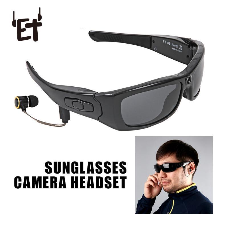 Suporte óculos Mini Camera TF Video Recorder HD1080P Bluetooth MP3 Camcorder Música Óculos com Bluetooth Headset H3