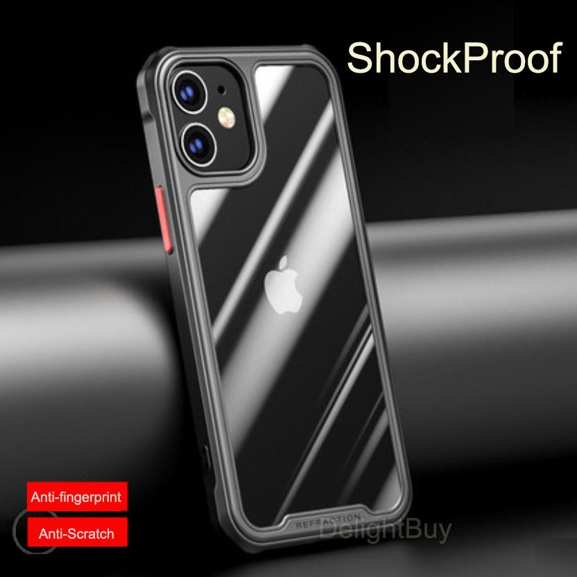 Для iPhone 11 12 PRO MAX XS MAX 6S 7 8 PLUS SE MINI Ударопрочный антипристойный корпус