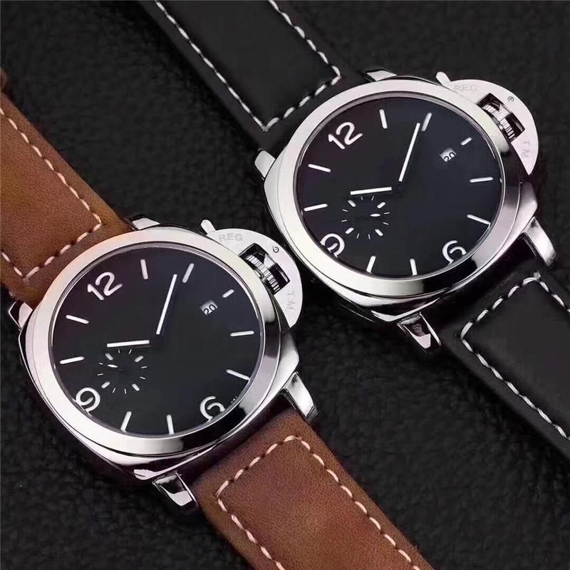 Montre-poignet hommes de luxe de haute qualité montres occasionnels de haute qualité multiples fuseaux horaires Montre Montre Mode Strap en cuir de mode Quartz Sports Horloge Erkek Kol Saati Saati