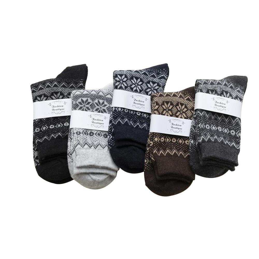5 confezione da uomo in cotone vintage inverno morbido caldo calda a freddo maglia flower flower pattern calks regalo w1222