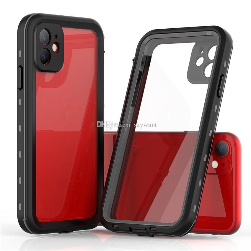 Kırmızı Biber IP68 Su Geçirmez Telefon Kılıfı Için iphone 12 11 Pro x XR XS Max Samsung Note 20 Ultra S20 Artı Darbeye Dayanıklı Kılıflar