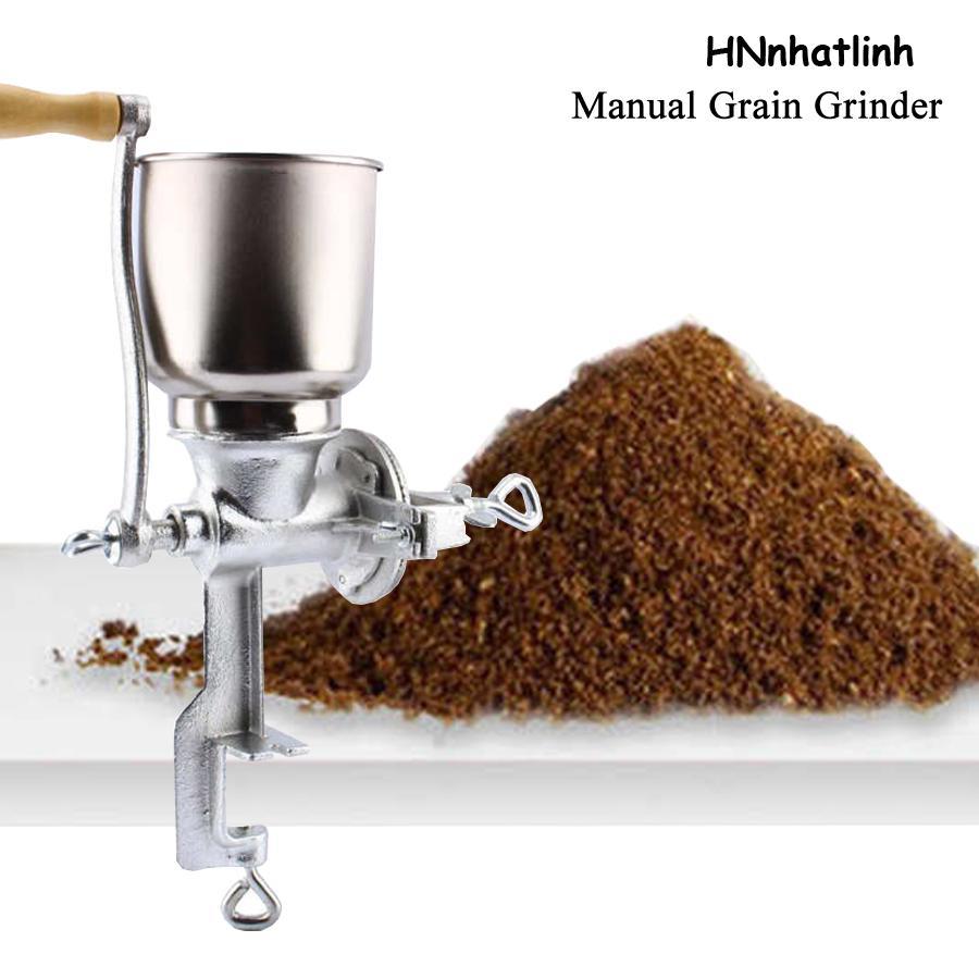 Moinho de especiarias Ferramentas de cozinha manual grão moedor mesa braçadeira Moinho de milho fabricante de farinha de grão de trigo Moinho de ferro fundido mão portátil