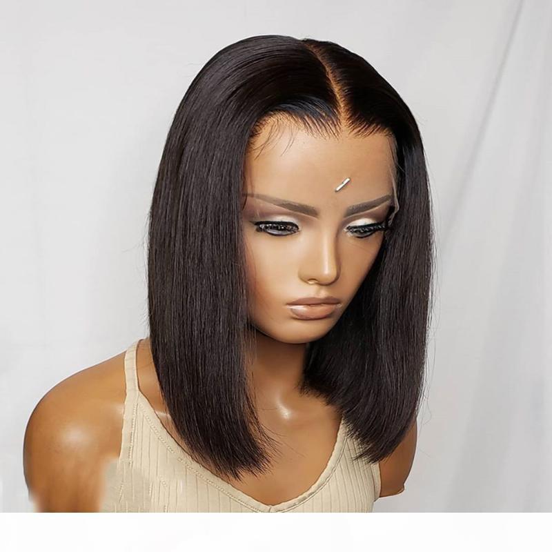 4x4 courte perruque courte 150% de dentelle fermeture humaine perruques pour femmes cheveux droits pré-cueillis prémends brésilien préalable rosa