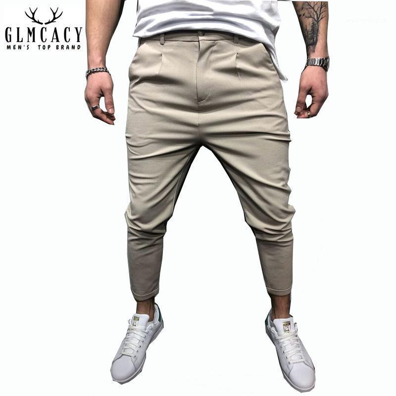 Pantalones para hombres Hombres Casual Pegado Sólido Joggers Masculino Harem Streetwear Lápiz Track más Tamaño 1
