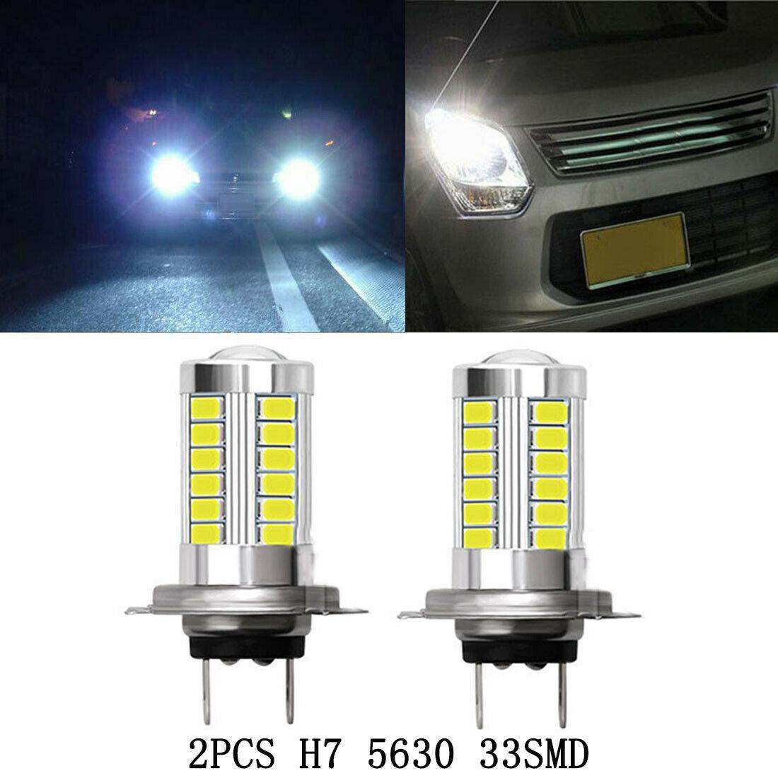 10pcs 무료 배송 H7 5630 LED 33 SMD LED 12V 6000K 화이트 자동 자동차 안개 빛 헤드 라이트 전구 밝은