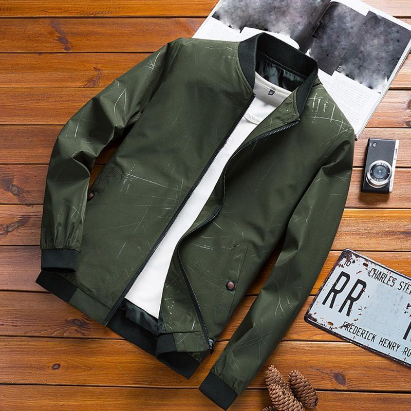 Chaquetas para hombre Otoño 2020 Abrigos casuales de invierno Chaqueta de bombardero Chaqueta delgada Moda Masculina Outwear Mens Marca Ropa 8.15
