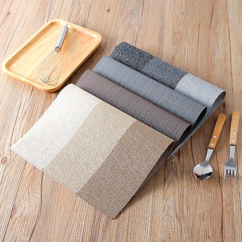 premium lavável place tapetes de jantar mesa tapetes resistentes ao calor não-deslizamento à prova d 'água mesa esteira 45x30cm moda placa de disco tapete decorativa