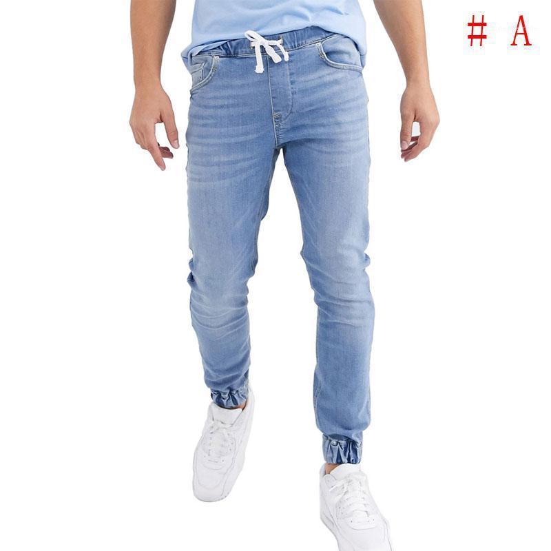 Neue Mode Männer Skinny Jeans Slim Fit Hose Stretch Pant Denim Casual Lange Männer Jeans1