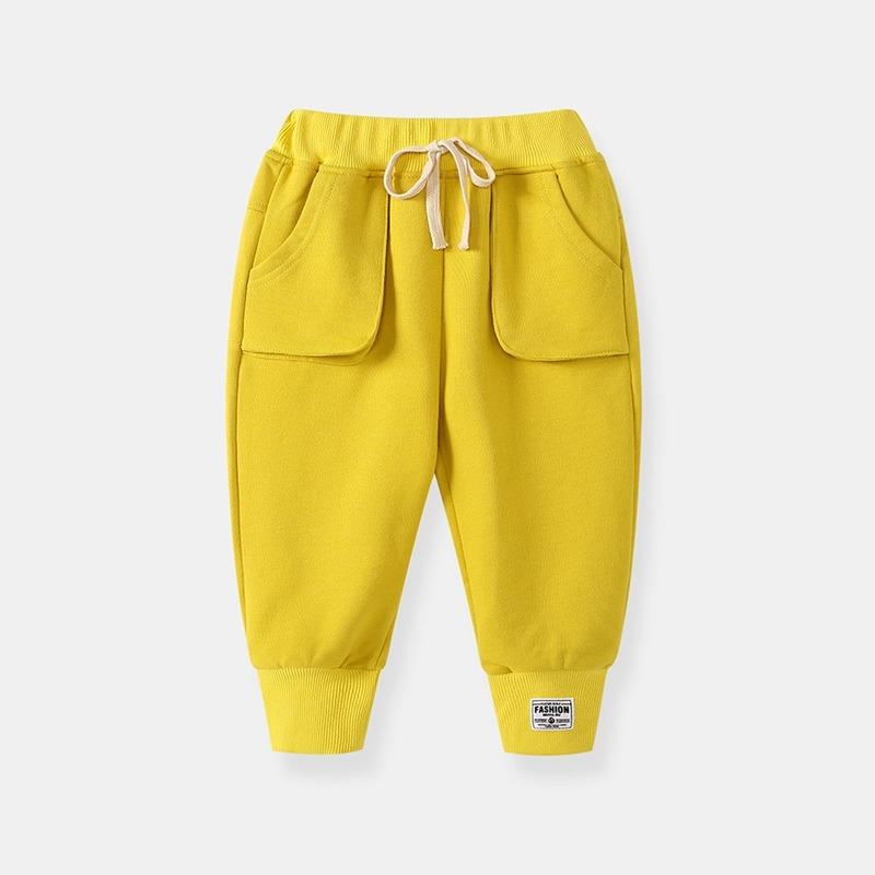 Pantalon de fond de cloche pour enfants garçons automne vêtements cordon de cordon de harem solide harem portes de coton pleine longueur