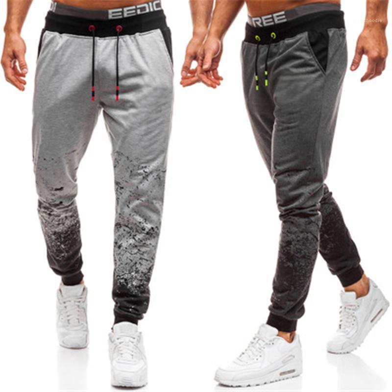 Masculino nuevo cintura baja casual pantalones sueltos para hombre degradado colores pantalones moda tendencia de cerca cordón deportes lápiz pantalones primavera