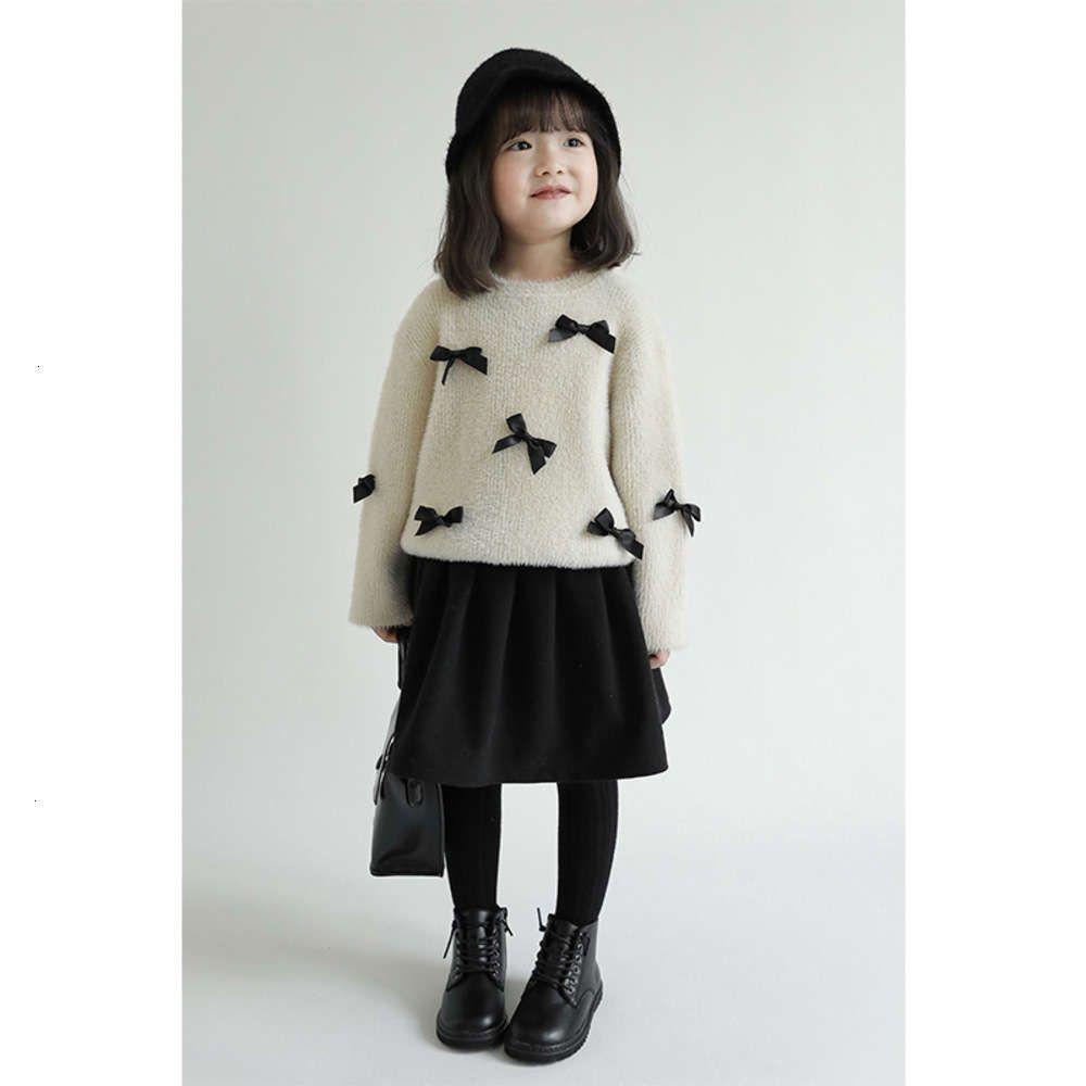Maglione delle ragazze di cachemire Tutto in un 2020 Nuovi bambini Panno per bambini Inverno Lovely Bow Bow Baby Top Top Escesk SLE 0E0Q6LJV