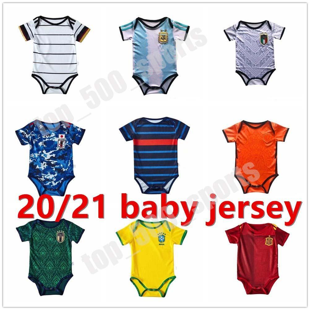 2021 국가 대표팀 아기 축구 유니폼 이탈리아 일본 키즈 키트 축구 셔츠 20 21 아르헨티나 저지 멕시코 Camisas de Futebol