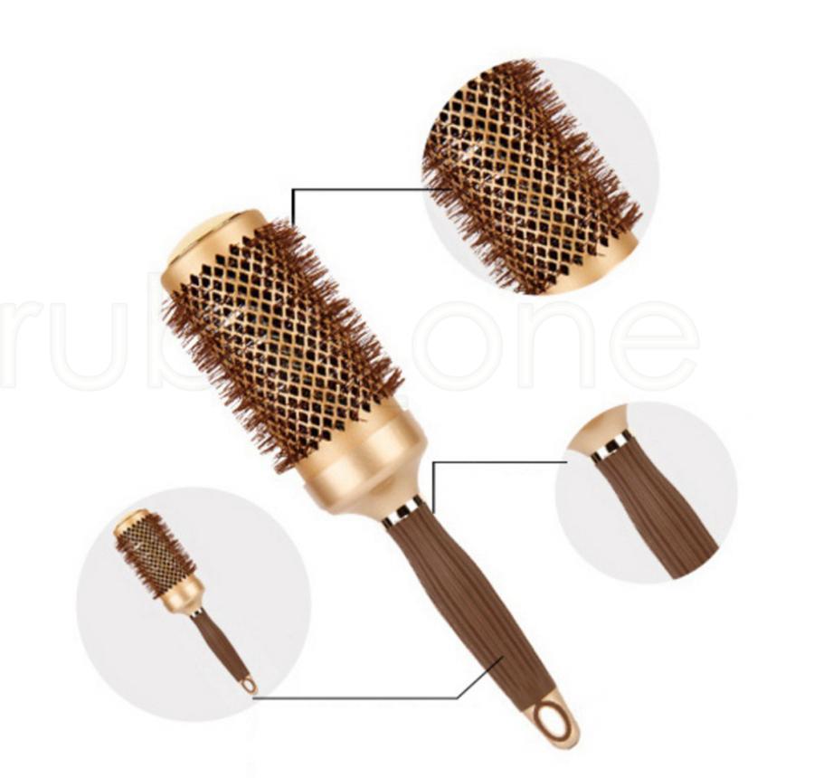 Hair Salon Aluminum Round Comb Hairdressing Brushes Curler Brush Salon Styling Tools Massage Com jllfEV comb2010