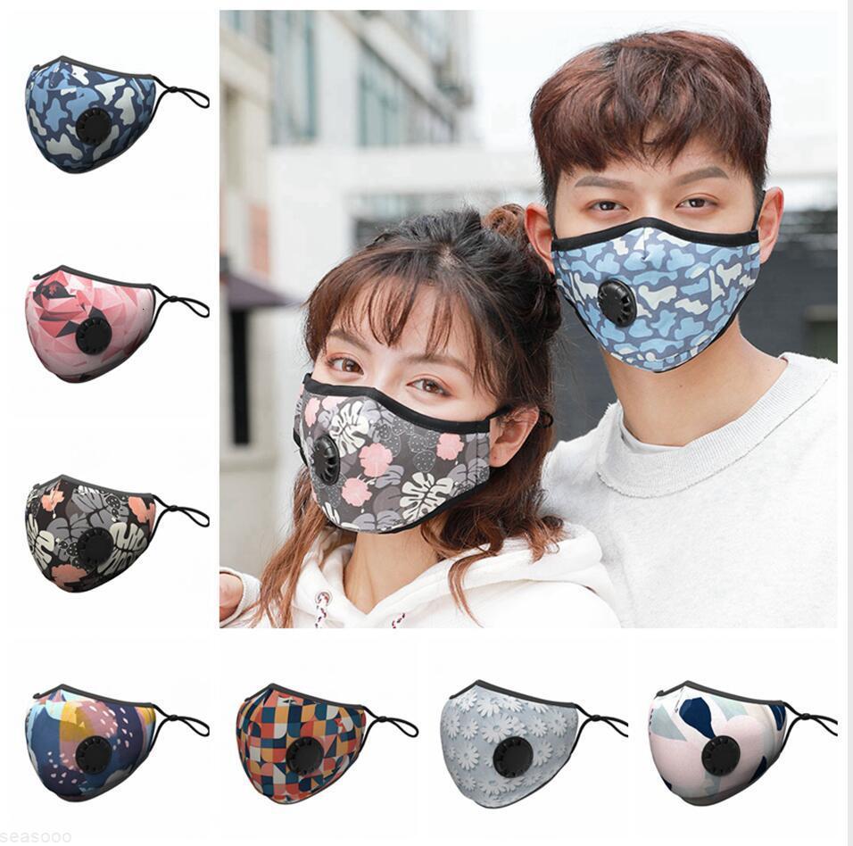 Filter Gesichtsmaske mit Atemventil staubdichte bunte waschbare wechselbare Schutztuch Masken Erwachsene Mundabdeckung Ljjp245cb4x